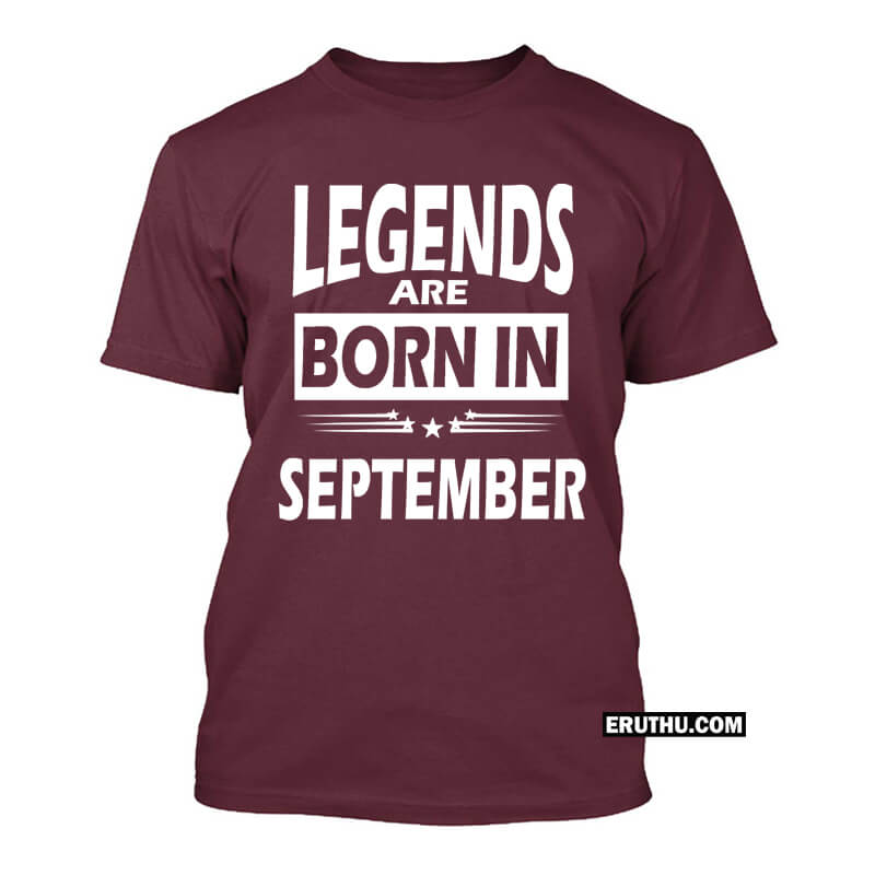 1fc9cff10 Buy Legends Are Born In September Star Birthday T Shirts