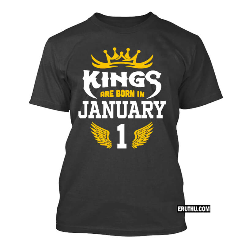 Buy Kings Are Born In January Number Birthday T Shirts