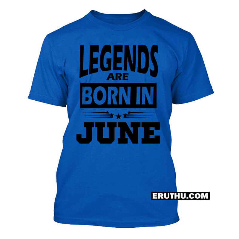 93a3f7e4 Buy Legends Are Born In June Star T Shirts | Upto 50% Off products ...