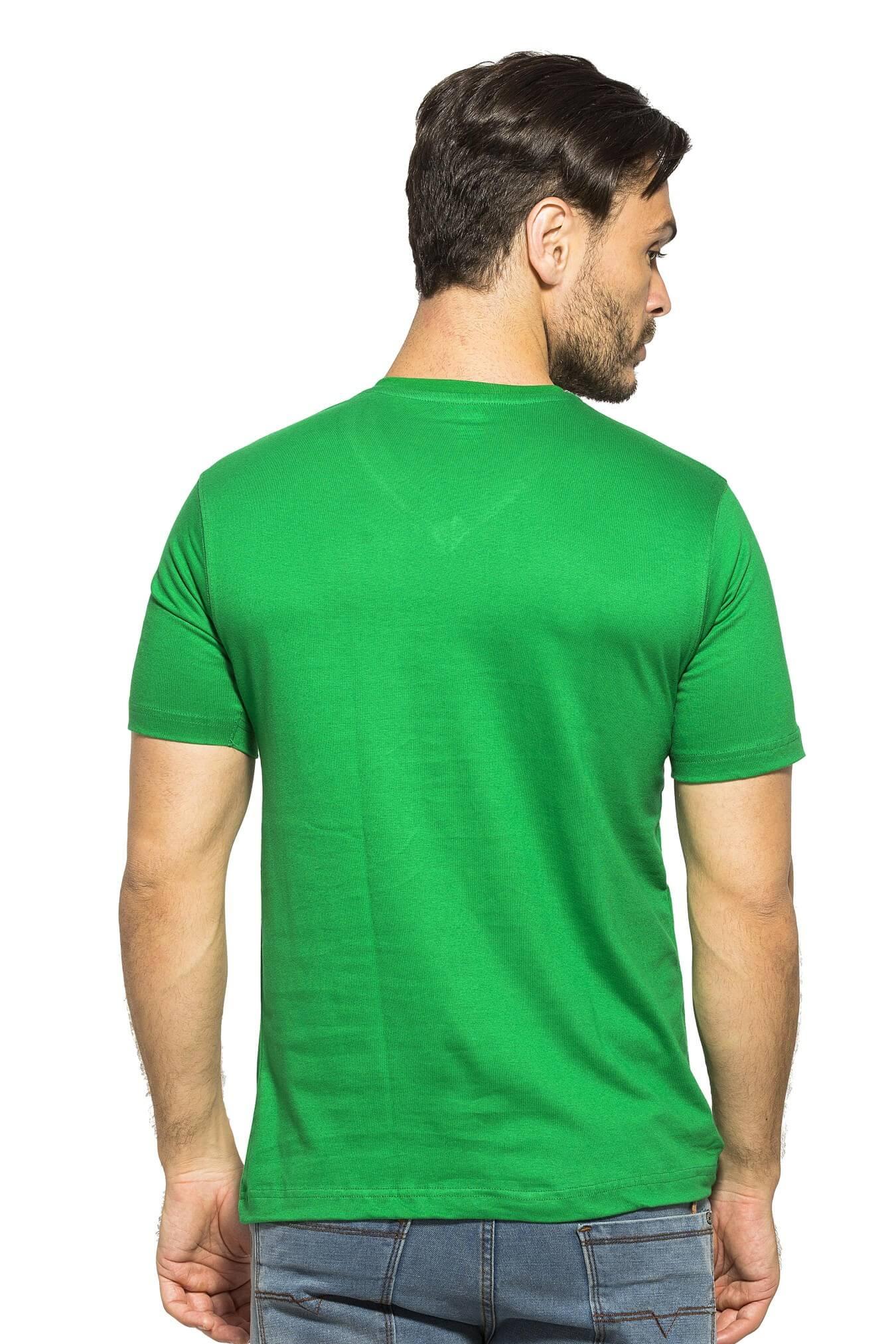 ac0823992 Buy Dark Green Plain V Neck Half Sleeve T-Shirt products online