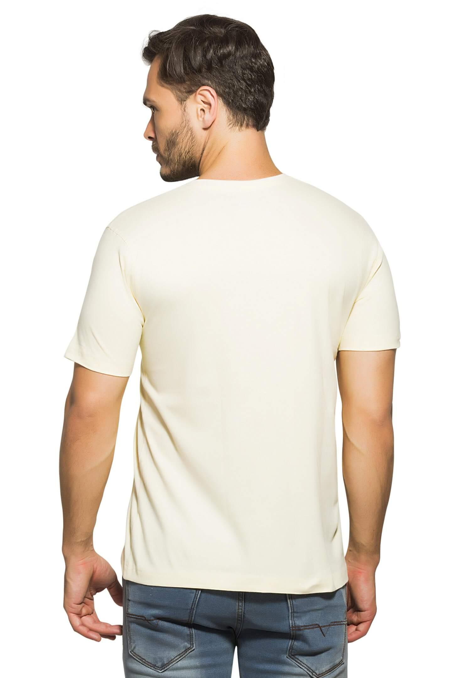 b417f23eaff Buy Off White Plain V Neck Half Sleeve T-Shirt products online