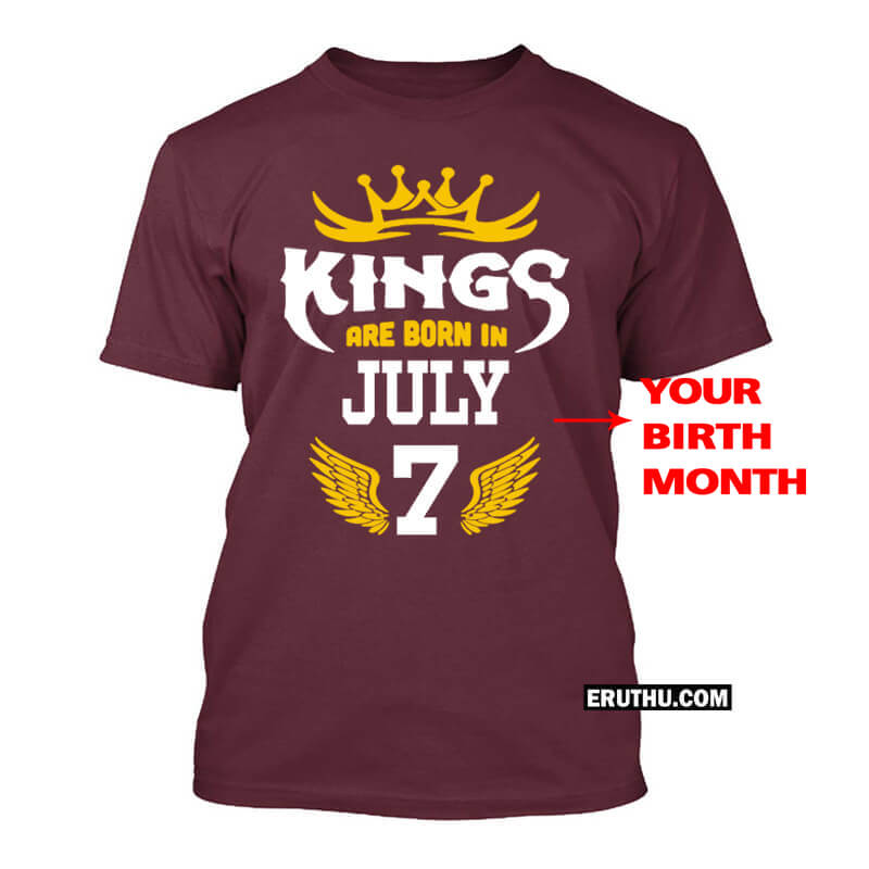 Buy Customized Kings Are Born In September Number Birthday T Shirts