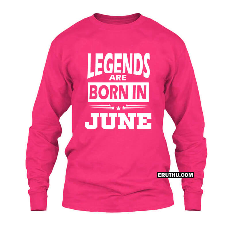 3364b020 Buy Legends Are Born In June Star Women Full sleeve T Shirts | Upto 50% Off