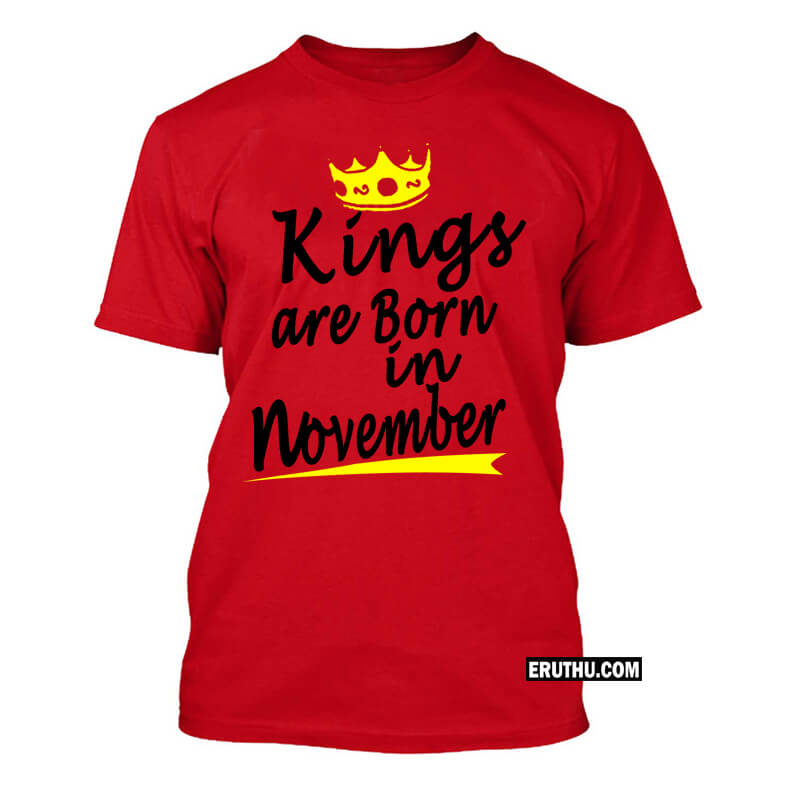61f7fd523 Buy Born In November men T Shirt products online at low prices in ...