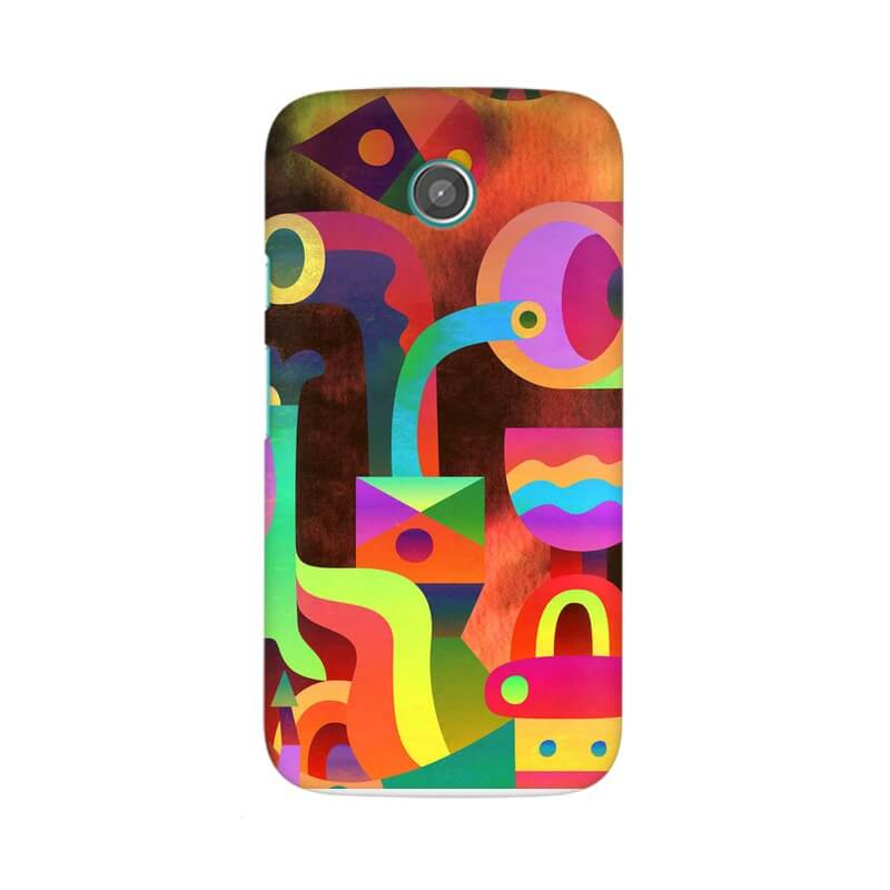 newest cb549 608b1 Buy Paint Glow Abstract Moto E Mobile Back Cover products online