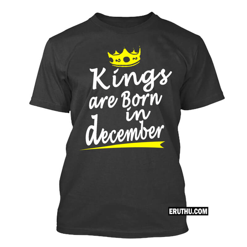 Kings Are Born In December Crown Symbol Birthday T Shirts