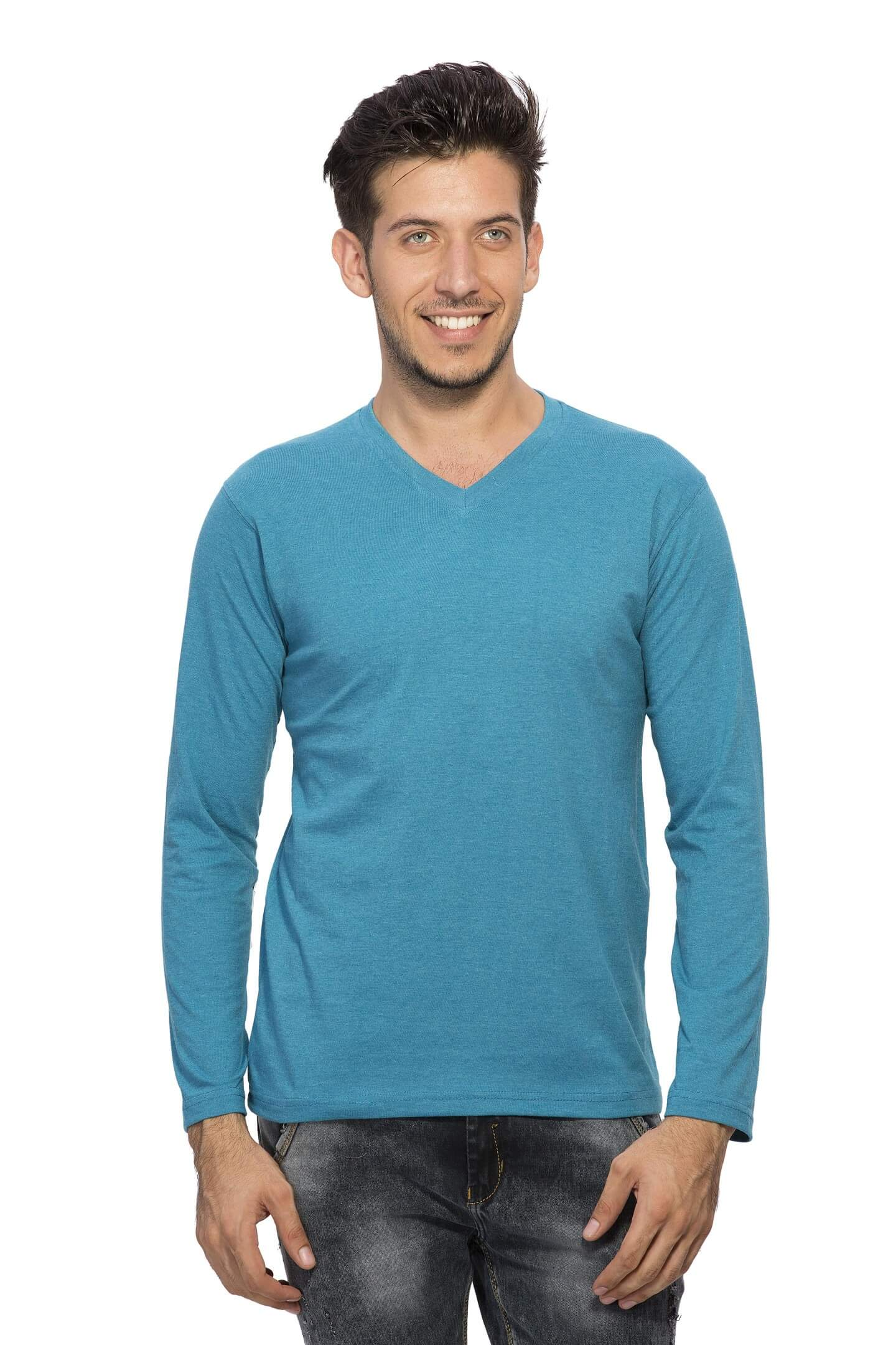 e26713329937 Buy Men Plain Full Sleeve T Shirt products online at low prices in ...