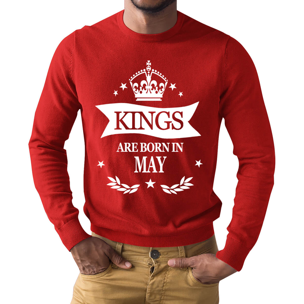 451f22afe Kings Are Born In May Leaf Symbol Full Sleeve Birthday T Shirts | Upto 50%  Off