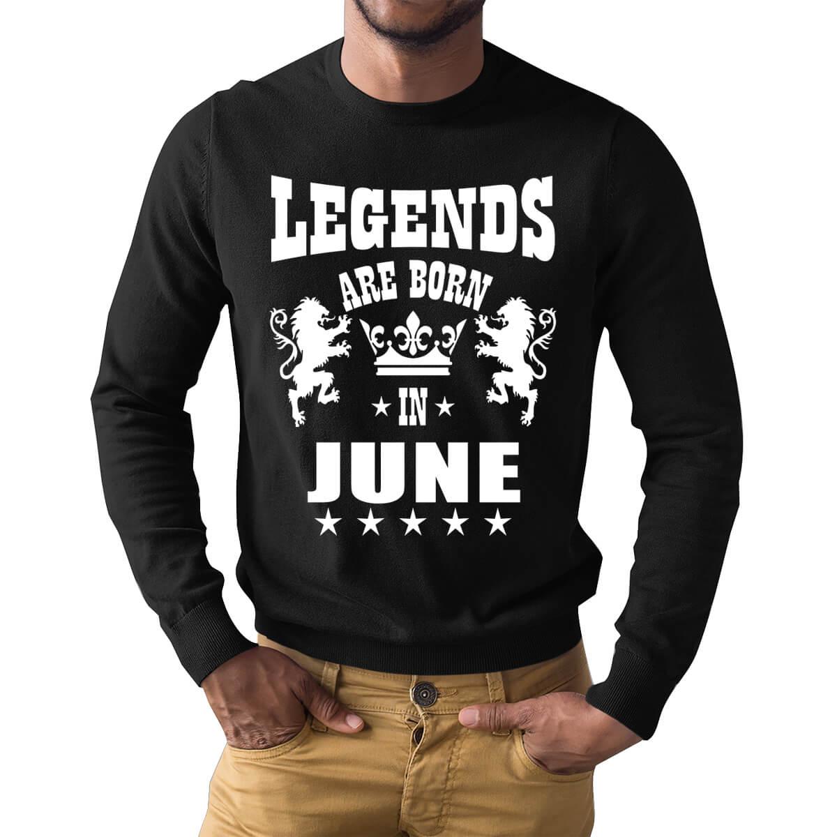 89fb0b12 Legends Are Born In June Lion Symbol Full Sleeve Birthday T Shirts | Upto  50% Off